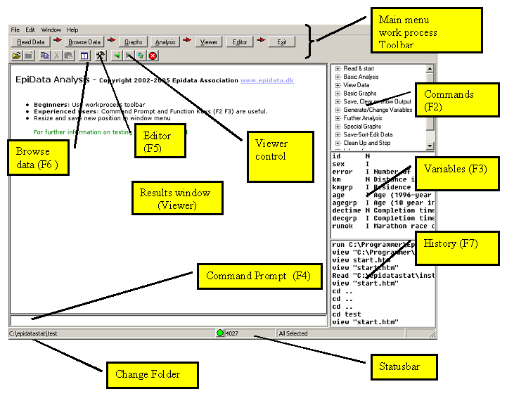 epidata analysis